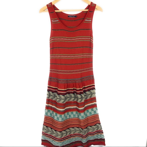 Peruvian Connection Dresses & Skirts - Peruvian Connection Knit Rust Orange Shift Dress